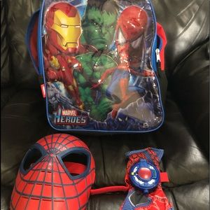 Handbags - Spider-Man backpack w mask and glove